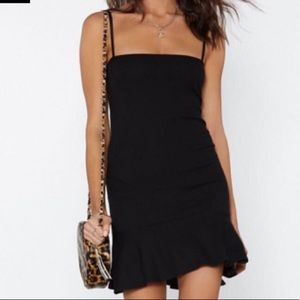 Nasty Gal Mini Dress with Ruffle Hemline